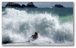Body boarding at Kynance