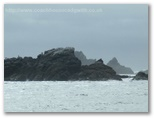 Winter, rocks off Lizard Point
